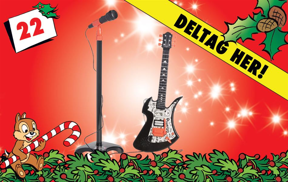 22. december - Vind Cloudberry Castle elguitar og mikrofon!