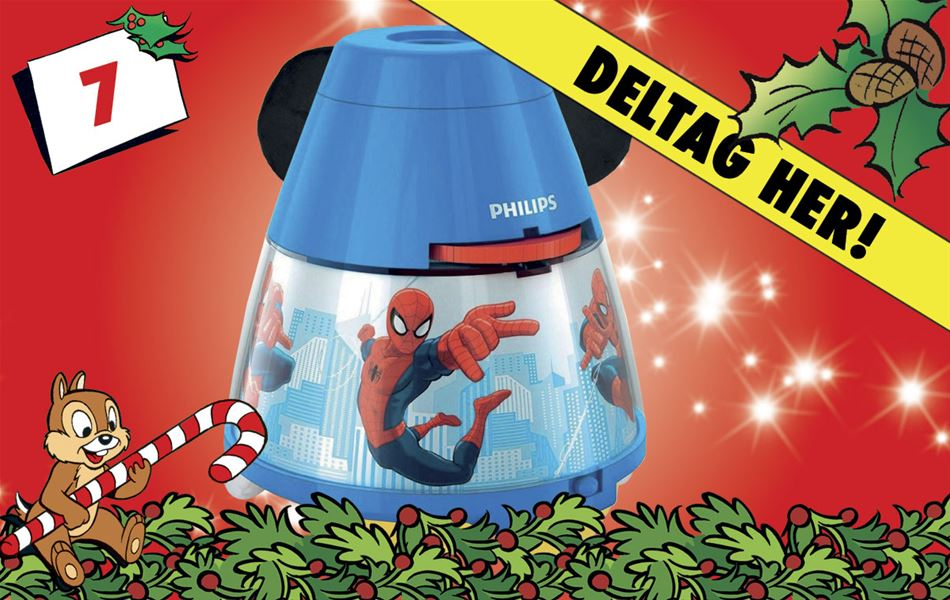 7. december • Vind Philips Marvel Spider-Man-projekter/natlampe