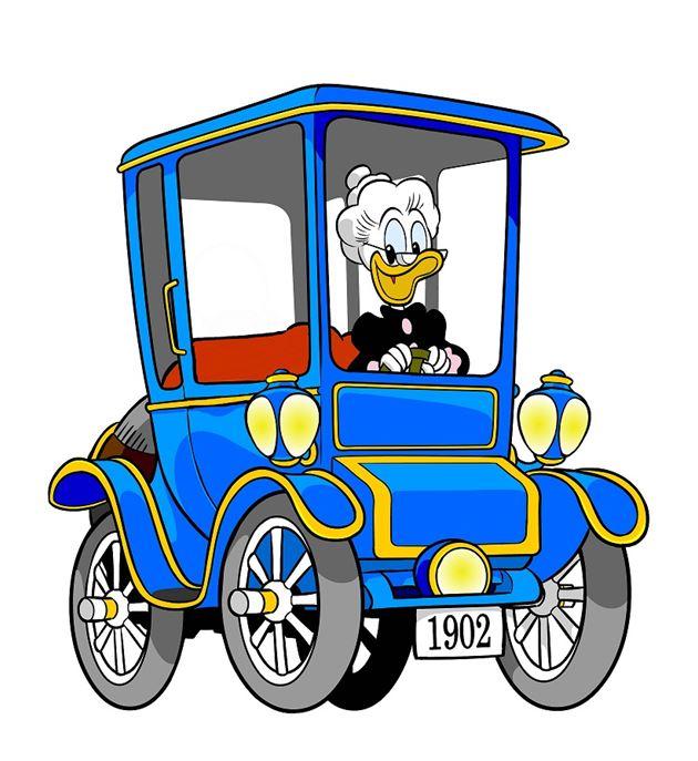 Vidste du at Bedstemor And er verdens mest berømte el-bilist?