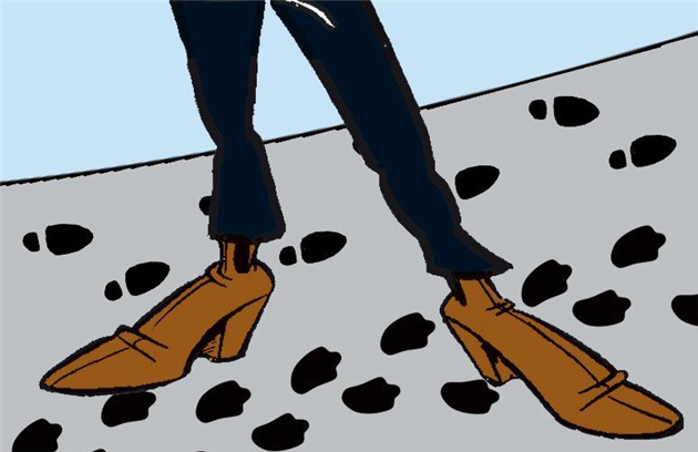Spiontips: mystiske fodspor