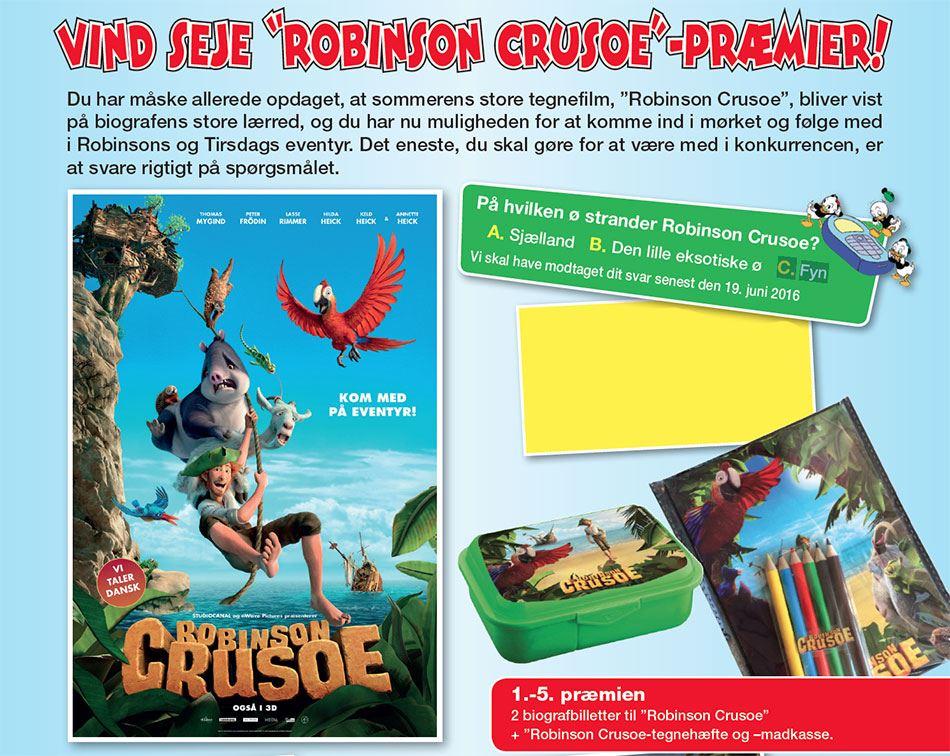 På hvilken ø strander Robinson Crusoe?