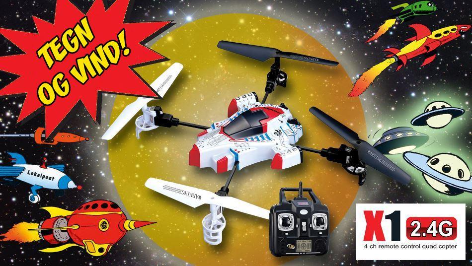 Tegn dit eget Anders And-rumskib og vind SYMA SPACESHIP X1