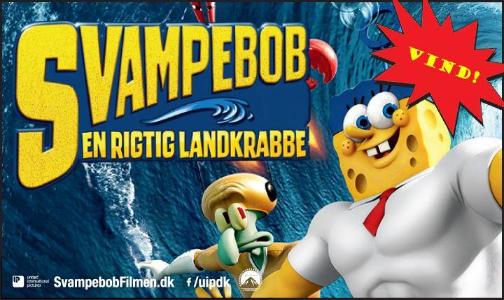 AFSLUTTET: Vind seje Svampebob-præmier og biografbilletter!