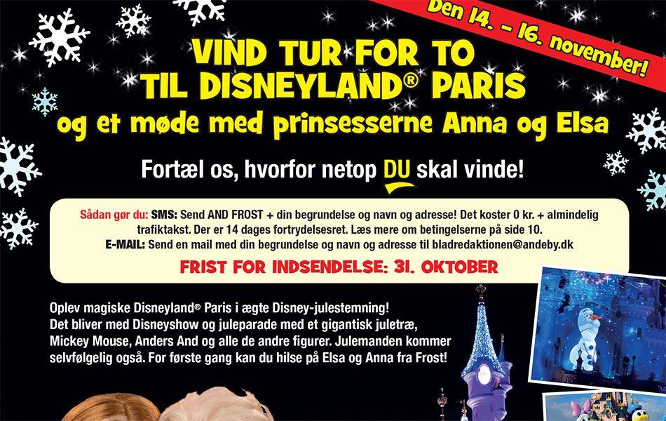 Vind en tur for to til Disneyland Paris
