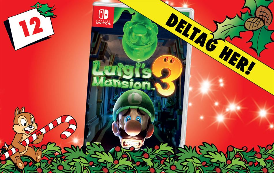 12. december - Vind Luigi's Mansion 3 til Nintendo Switch!