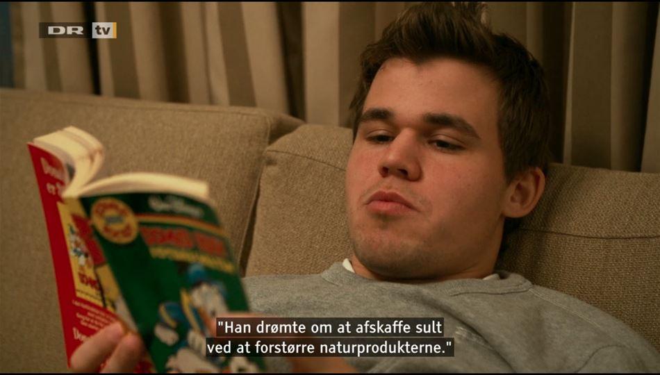 Skakverdensmesteren elsker (også) Anders And