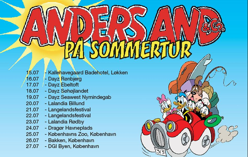 Opdateret: Mød Anders And & Co. i sommerferien!