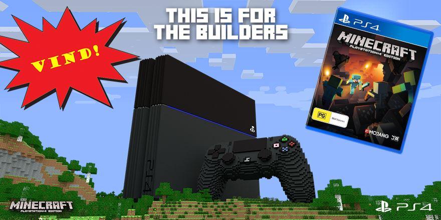 AFSLUTTET: Vind det populære spil Minecraft til PlayStation 4
