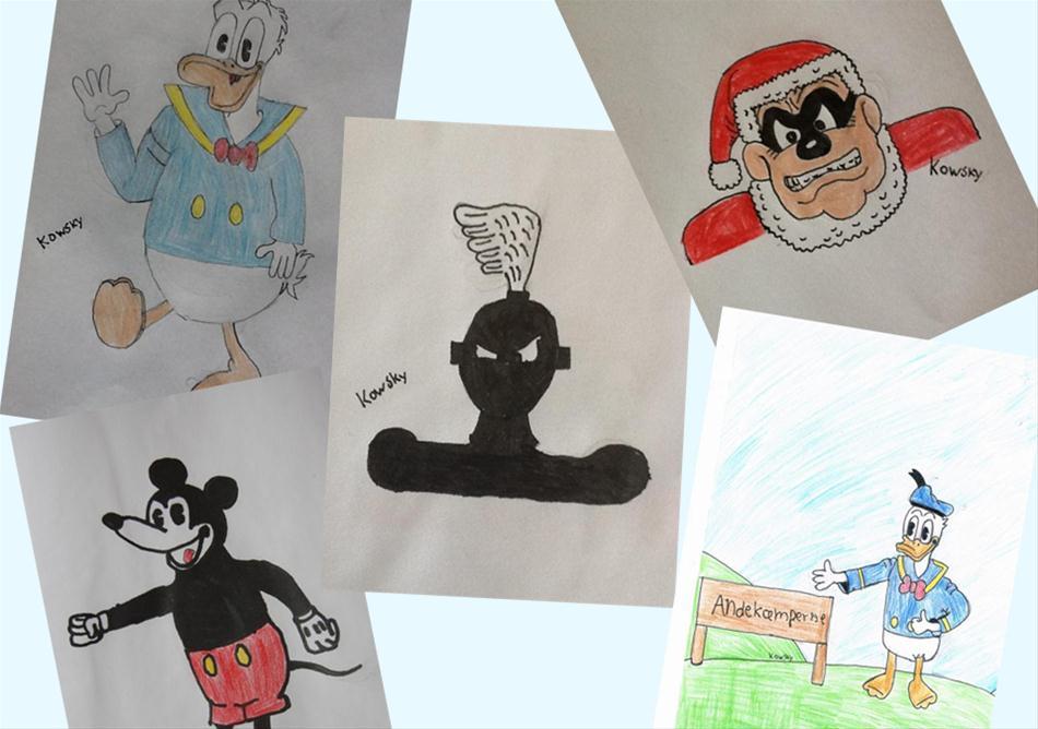 Se alle Kowskys mange tegninger