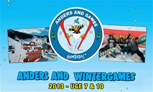 Anders And Wintergames i Hemsedal