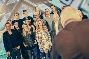Kom bag om kameraet til X Factor-pressemøde