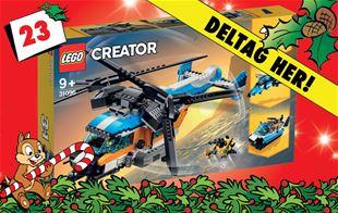 23. december - Vind LEGO Creator, helikopter med to rotorer