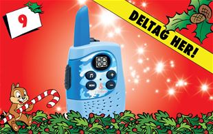 9. december - Vind blæret blå walkie-talkie!
