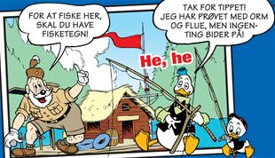 For at fiske her skal du have fisketegn!