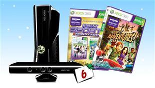 VIND Xbox 360 4GB Kinect sensor inkl. seje Kinect spil