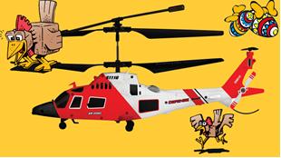 Afsluttet: Vind helikopter!
