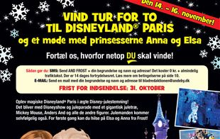 Vind en tur for to til Disneyland Paris