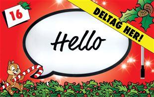 16. december - Vind lystavle formet som taleboble