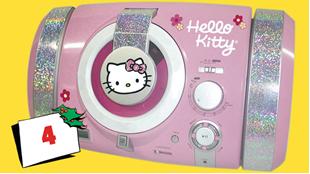 Afsluttet: Vind Hello Kitty Radio/CD Boombox