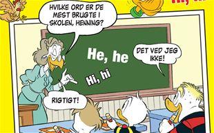 Hvilke ord er de mest brugte i skolen, Henning?