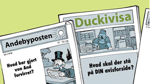 Afsluttet: Lav din egen avisforside!
