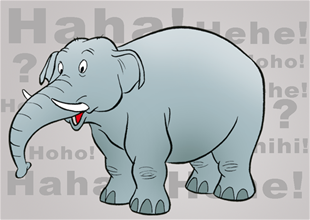 Hvad sker der hvis en elefant sætter sig på en lommelygte?