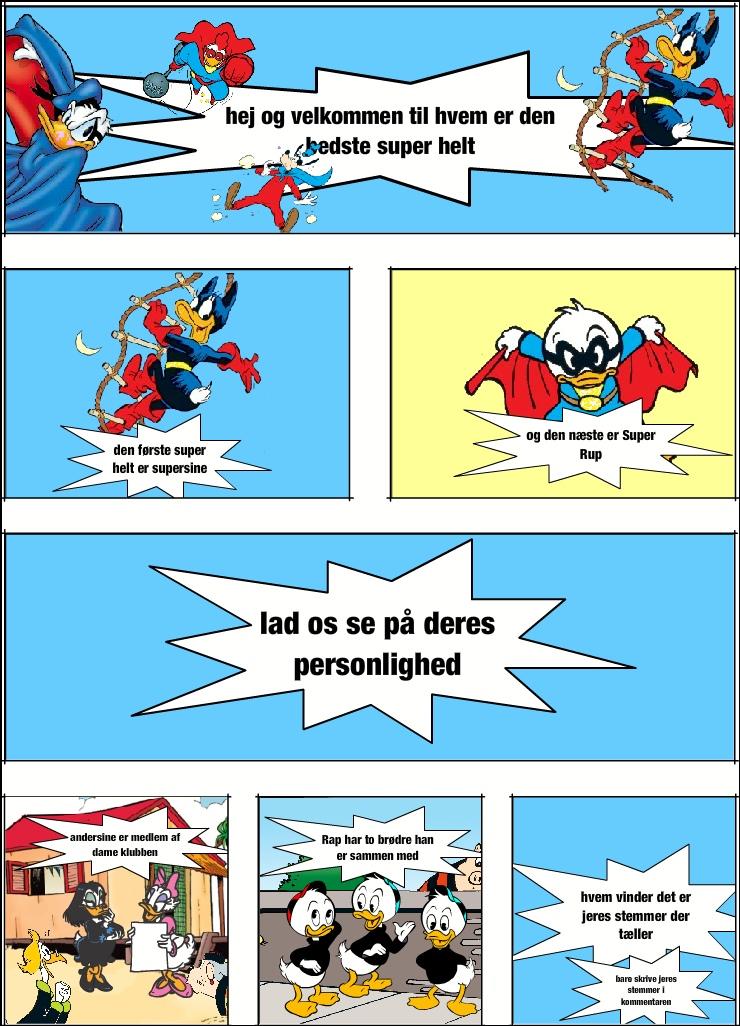 hvem er den bedste superhelt) ( SuperSine V.S Super Rap